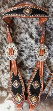 Bling Browband headstall.