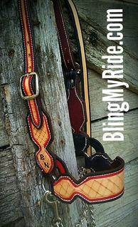 Hand tooled and painted steer show halter.