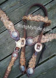 Scroll and floral cut out tack set.