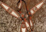 Buck-stitched bling tack set w/ Single ear.