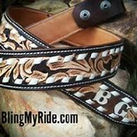 Hand tooled western belt.