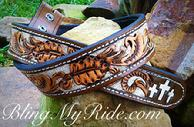 Hand tooled and painted western belt.