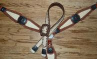 Bone croc. tack set w/ belt style headstall.
