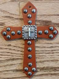 Leather saddle cross