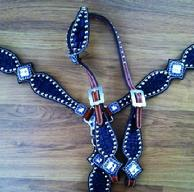 Bling tack set in purple croc. with Swarovski bling!