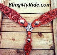 Sheridan hand tooled breast collar.