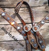 Bling tack set with singel ear headstall and loads of Swarovski crystals.