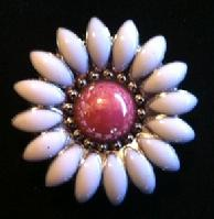 Pink and white flower concho.