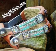 Bling SA Walls aluminum barrel stirrups.