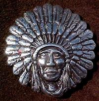 Indian chief headress concho