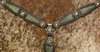 Bling buck-stitched breast collar.