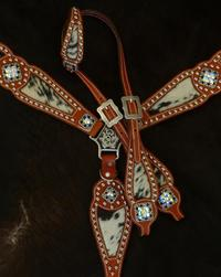 Bling tack set with single ear headstall.