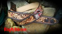 Hand tooled and painted western belt