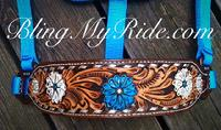 Hand tooled and painted bronc noseband.
