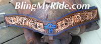 Hand tooled floral tripping collar. W/ or w/out custom brand, initials, name, etc
