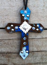 Bling saddle cross.